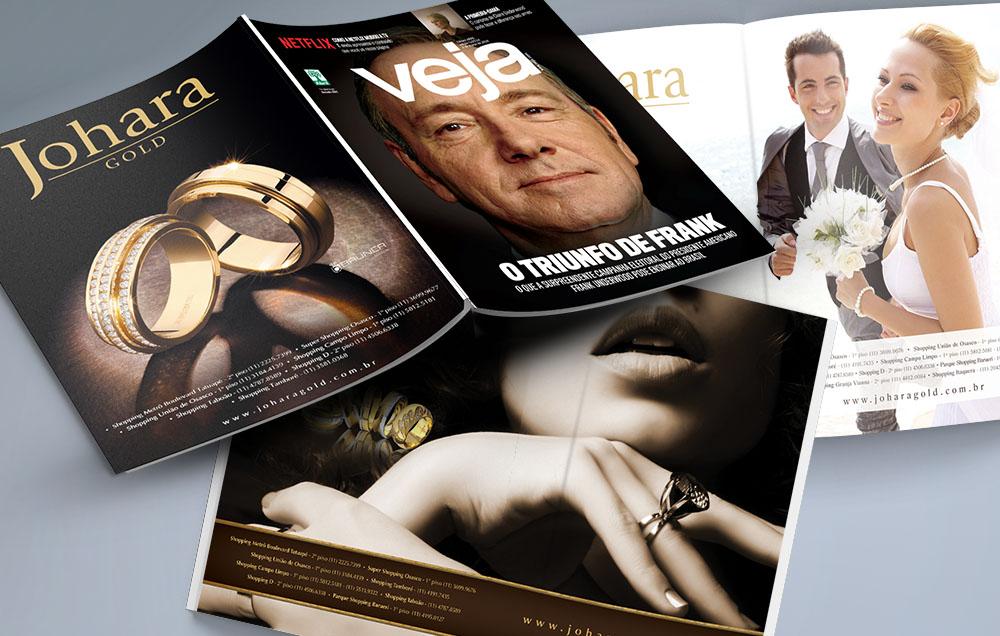 Joalherias JOHARA - anúncios em revistas de grande circulação