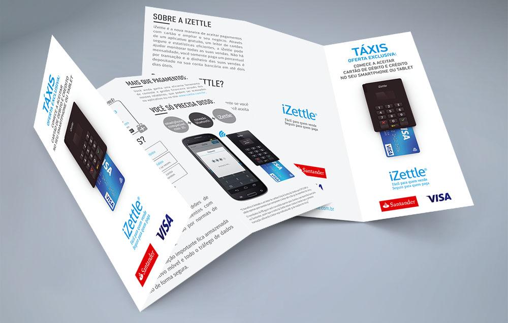 Folder Izettle - A IZETTLE é uma empresa sueca de pagamentos mobile