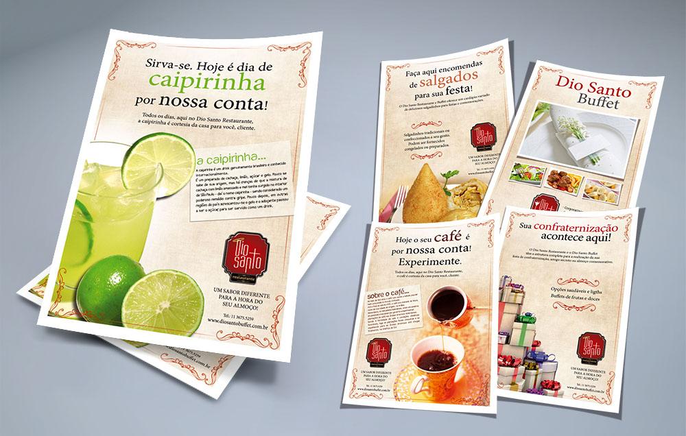 Folhetos internos para Restaurante em SP