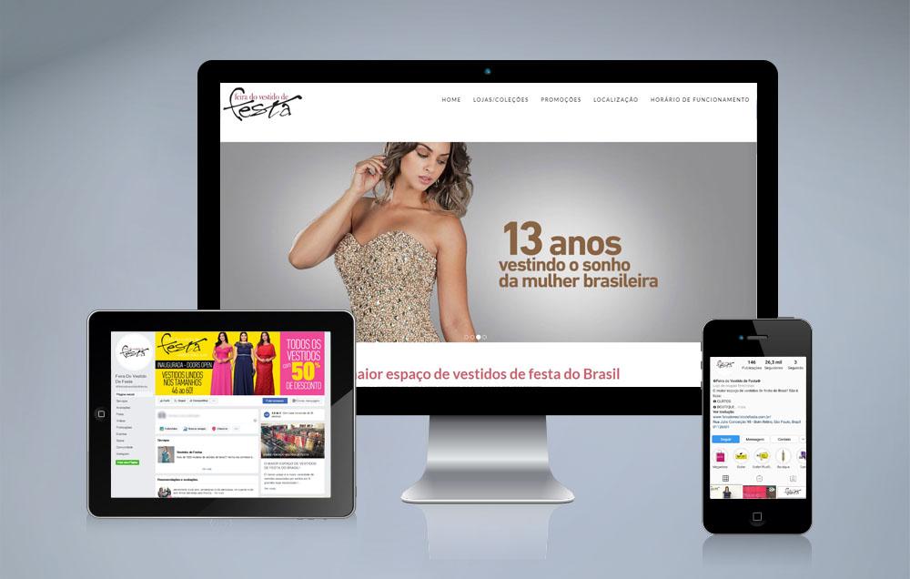 Redes Sociais Feira do Vestido de Festa - a maior loja de vestidos de festa do Brasil