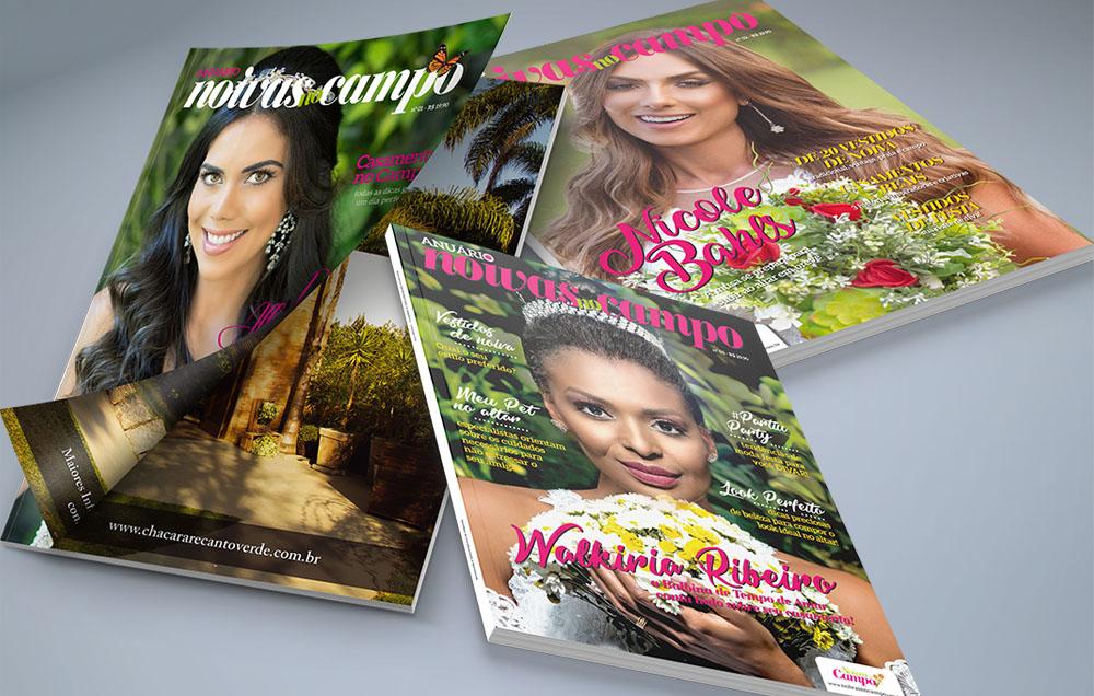 Revista sobre casamentos no campo com 180 pgs cada